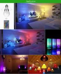 再入荷ライトアップE27 5W 16カラー RGB LED 電球★リモコン付