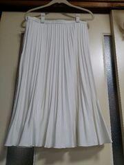 美品♪白プリーツスカート(Lsize)
