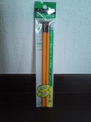 HB消しゴム付き鉛筆2本組