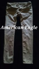 【American Eagle】Vintage Destroy スリムストレートカラージーンズ 34/Khaki