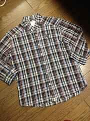 美品CIAO PANIC  ワンポイントチェックシャツ チャオパニック
