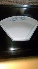 扇型平戸染め付け皿