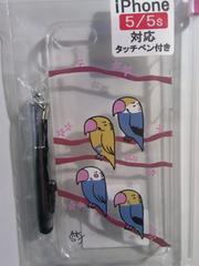 未開封iPhone5/5S 対応カバー タッチペン付セキセイインコ小鳥\596