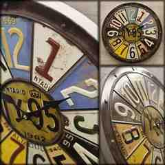 アンティーク エンボス クロック 壁掛け時計 HLCQ4916