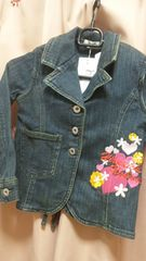 新品ヒロミチナカノ刺繍デニムジャケット120