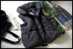 ◆新品◇3L◇厚手あったか中綿INベスト/ジレ♪大きいサイズ