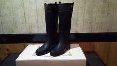新品 レインブーツ Light WeightRubber Boots黒/ブラウン22.5cm