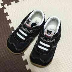 ミキハウスダブルB☆美品☆靴スニーカーシューズ☆14.5cm黒
