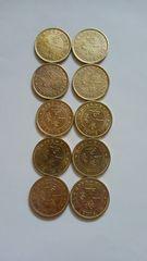 香港貨幣、TEN CENT S (10セント)、10枚。