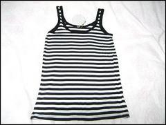 半額以下★SLYスライ★ボーダ−タンクトップ 白黒ホワイトブラック