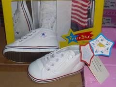 コンバース軽量15.0cm718白靴下本化粧箱付きkマ