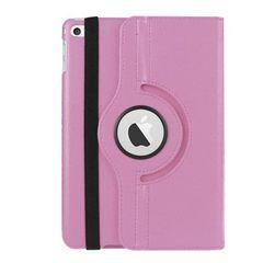 iPad mini4 レザーケース 360度回転式スタンド ライトピンク