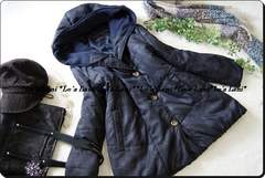 ◆新品◇4L◇真冬も◎中綿INあったかブルゾン♪フード付