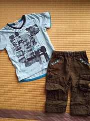 100cmTシャツ×ブランシェス95cm七分丈パンツ 送料込み