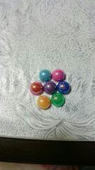 8�oオーロラ丸ポコ7色Mix15�c約100粒