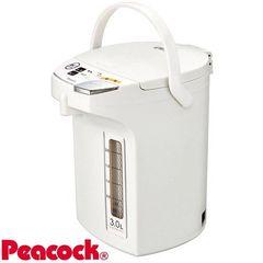 Peacock 魔法瓶 電動給湯ポット(3.0L) WMJ-30 ホワイト(W)
