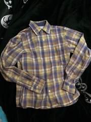 BEAMSお洒落色チェック柄長袖シャツS