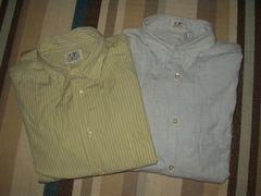 C.P. Company 3(L)洗いざらしヨレヨレ長袖シャツ2点セット