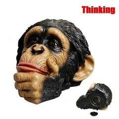 【送料無料】チンパンジー 貯金箱 モンキーヘッドバンク/Thinkin