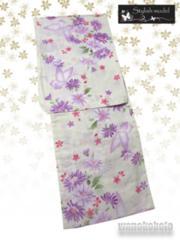 【和の志】女性用浴衣◇Lサイズ◇生成系・マーガレット687-11