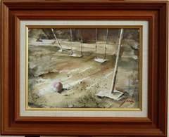 絵画 油彩 星純一『ブランコ』 一枚の絵取り扱い 受賞多数 真作保証