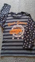 星柄&ストライプ!長袖Tシャツ120