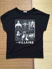 定形外込。しまむら×ディズニー・ヴィランズ柄ドルマンTシャツ