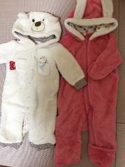 未着用☆ベビー70女児向け防寒ジャンプスーツカバーオールつなぎ
