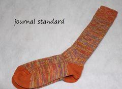 ジャーナルスタンダード*journal standardコットンリブソックス新品オレンジ