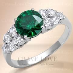 新品エメラルドグリーンカラー パヴェリング☆11号指輪ベリル色綺麗緑玉パベ
