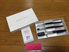 【SALON de Dolce】 熊野・侑昂堂の化粧筆セット