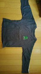 紺色の長袖Tシャツ【120�a】