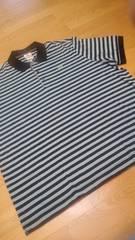 LACOSTEラコステ デザインボーダー半袖ポロシャツ サイズ3XLXXXL グレー黒