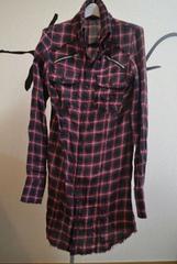 LGBルグランブルー 赤ラメチェックシャツ ネルシャツ