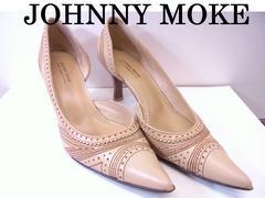 送料無料 ジョニーモーク JOHNNY MOKE パンプス ベージュ 34 美品★dot