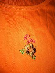 激安処分!新品*RYU SPORTSロゴハイビ刺繍ロングTシャツ