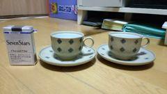 コーヒカップ ソーサー ペアセット 美品