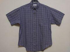 即決USA古着●BOTANY500チェックデザイン半袖シャツ!アメカジ・ビンテージ