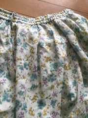 SM2☆新品◇アンティークな花柄が可愛い◇ギャザースカート