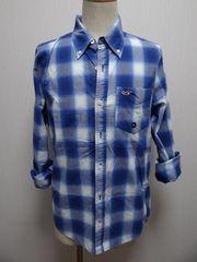 4222014 ホリスター メンズ 長袖チェックシャツ