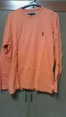 DJ HONDA!!オレンジロングTシャツ!!ロンT!!Lサイズ!!B系B-BOY!!