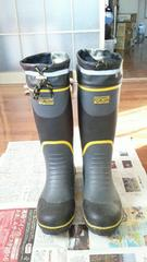 美品長靴安全靴28�p作業靴レインブーツ送料込み
