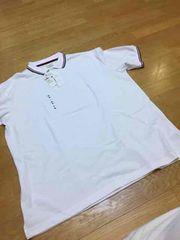 イオン購入  デザインカノコ半袖ポロシャツ  size3XL   5L  白
