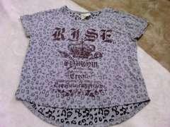 ヒョウ柄 ゆったりTシャツ M