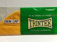 スイムキャップSWIM CAPイエロー黄色フリーサイズ新品TRINTEE