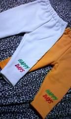 †新品††激カワロゴ刺繍パンツ2枚組†80