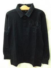 ネスタブランド NESTABRAND 刺繍入りラガーシャツ L寸 ブラック