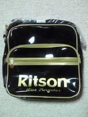 Kitson キットソン ショルダーバッグ スクールバッグ エナメル ブラック ゴールド BAG