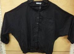 新品ボレロドルマンスタンドシャツブラック