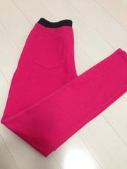 GU'ストレッチカラーパンツ S 未使用*pink